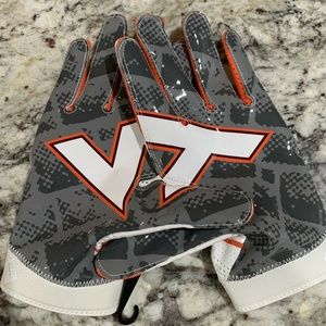 Nike Superbad 4 Virginia Tech Hokies Gloves NCAA